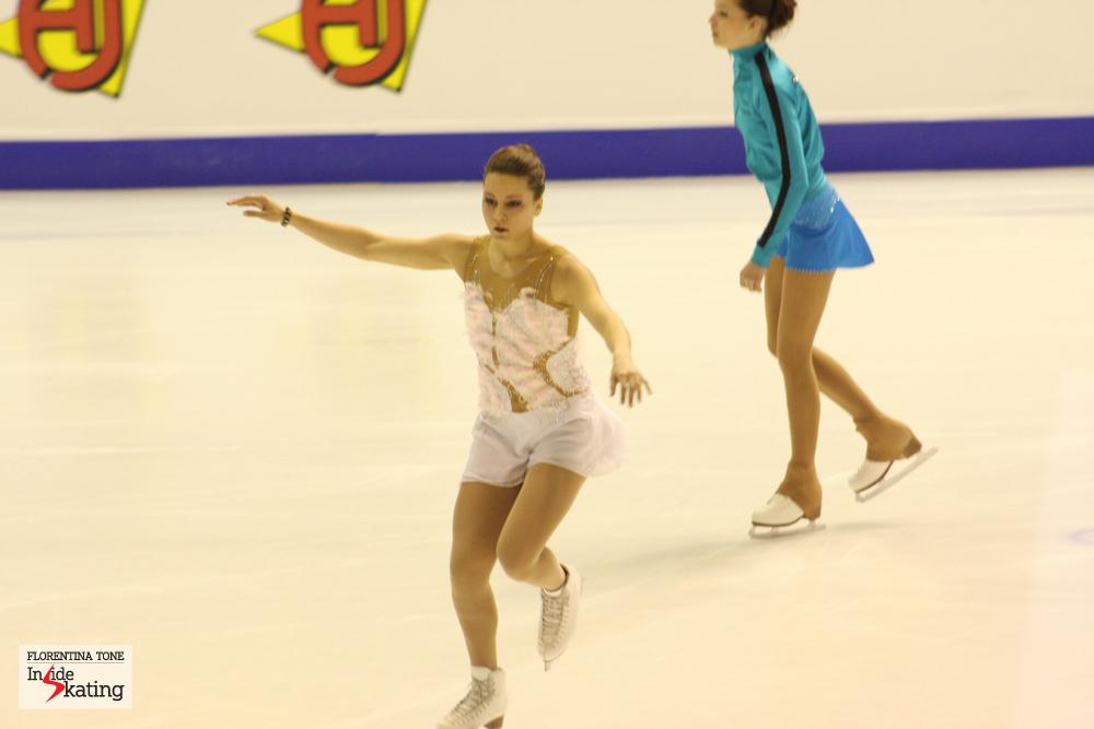 Sabina Mariuta, from Romania, at the 2013 European Figure Skating Championships in Zagreb