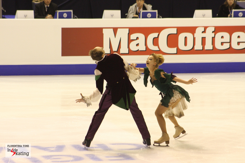 Nelli, Alexander and their zombie-routine, in Zagreb, at the 2013 Europeans