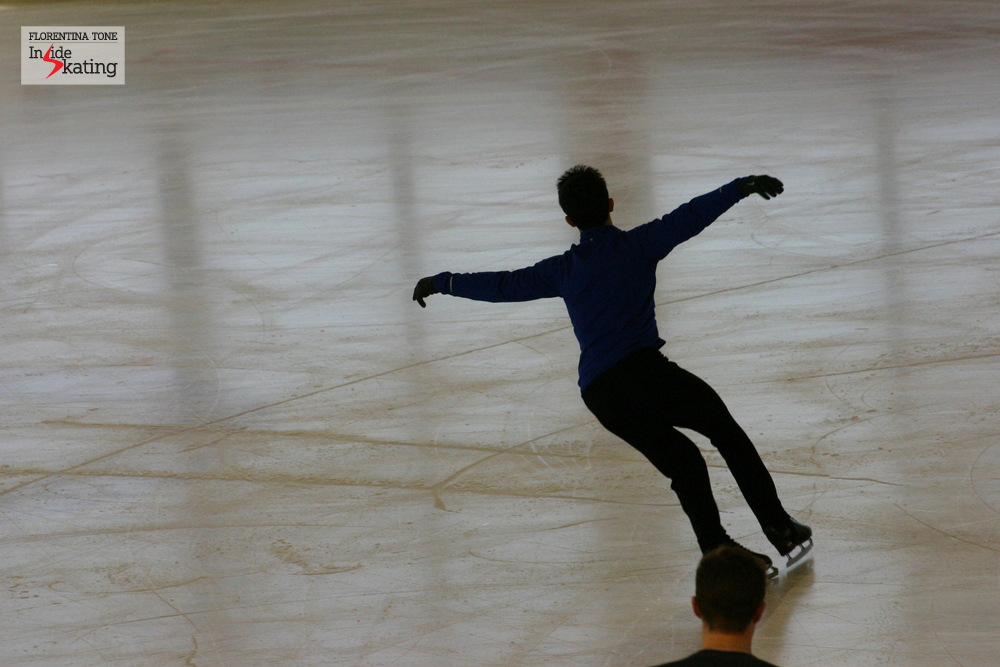 Patrick Chan in Nice, at the 2012 Worlds (practice rink)