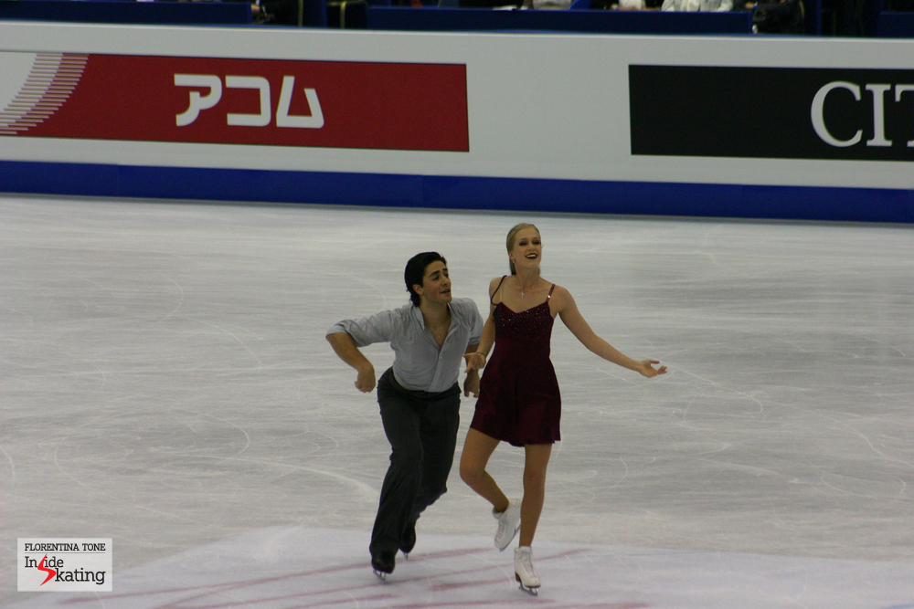 """Kaitlyn and Andrew in Nice, at the 2012 Worlds: an equally emotional performance, on """"Je suis malade"""""""