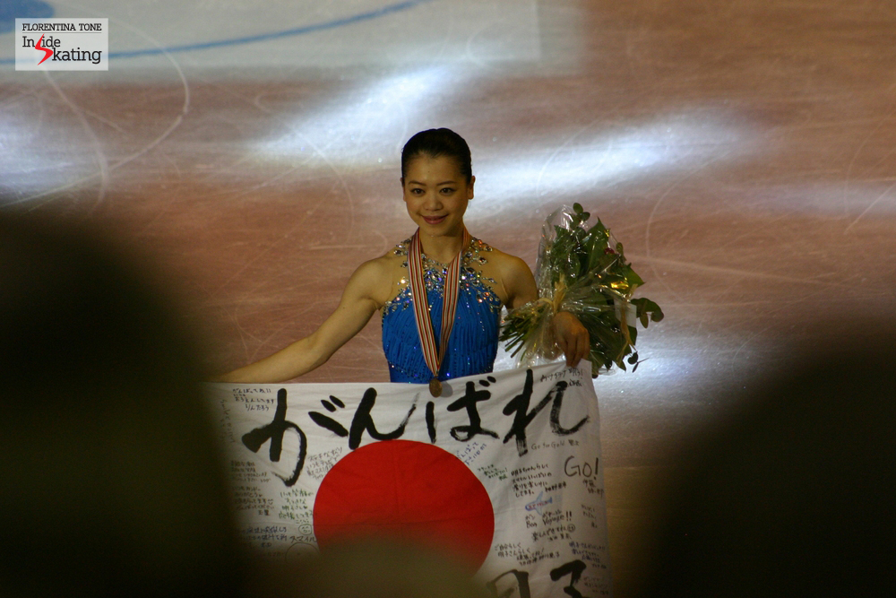 A happy Akiko Suzuki in Nice, at the 2012 Worlds, where she won the bronze medal