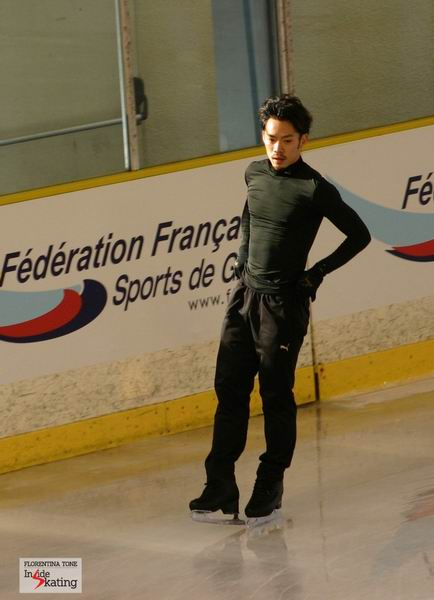 Daisuke Takahashi at the practice rink in Nice (Worlds, 2012)