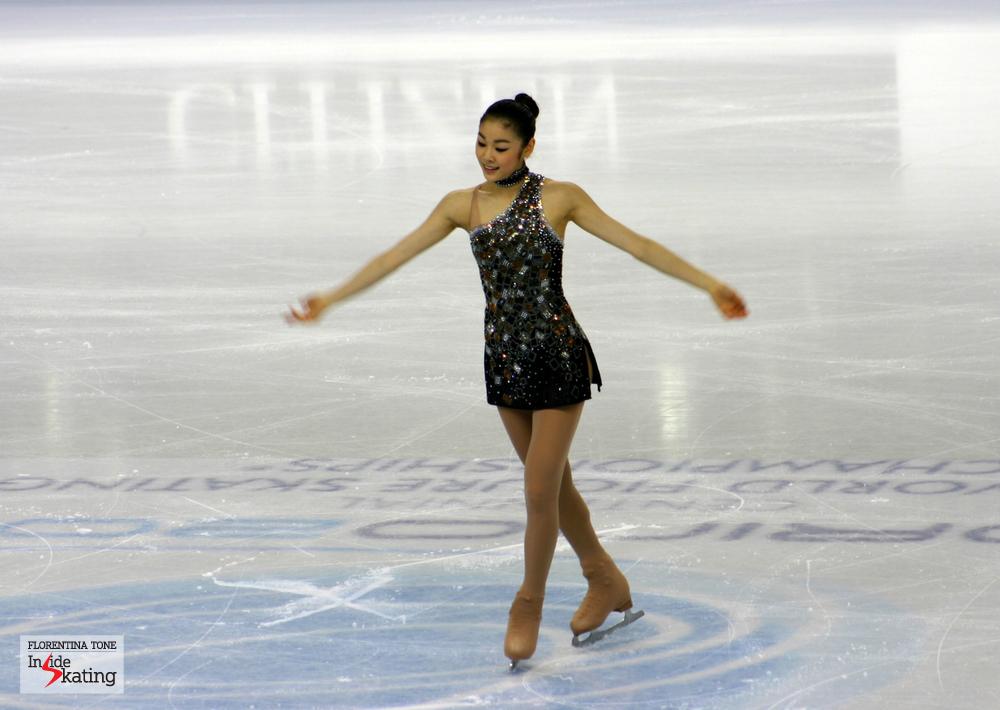 Yuna Kim in Torino, at the 2010 Worlds (short program)