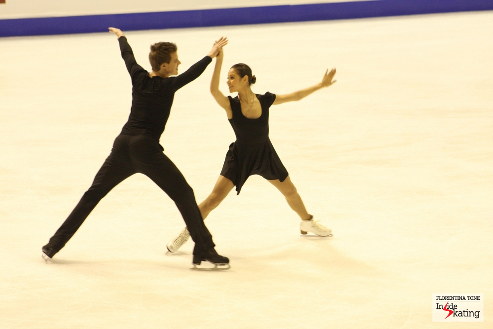 Elena Ilinykh and Nikita Katsalapov, at the 2013 Europeans (Zagreb, Croatia)