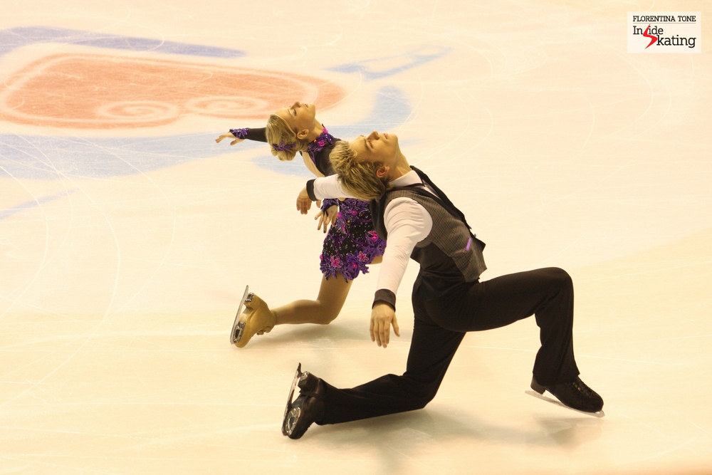 Penny Coomes and Nicholas Buckland, at the 2013 Europeans in Zagreb