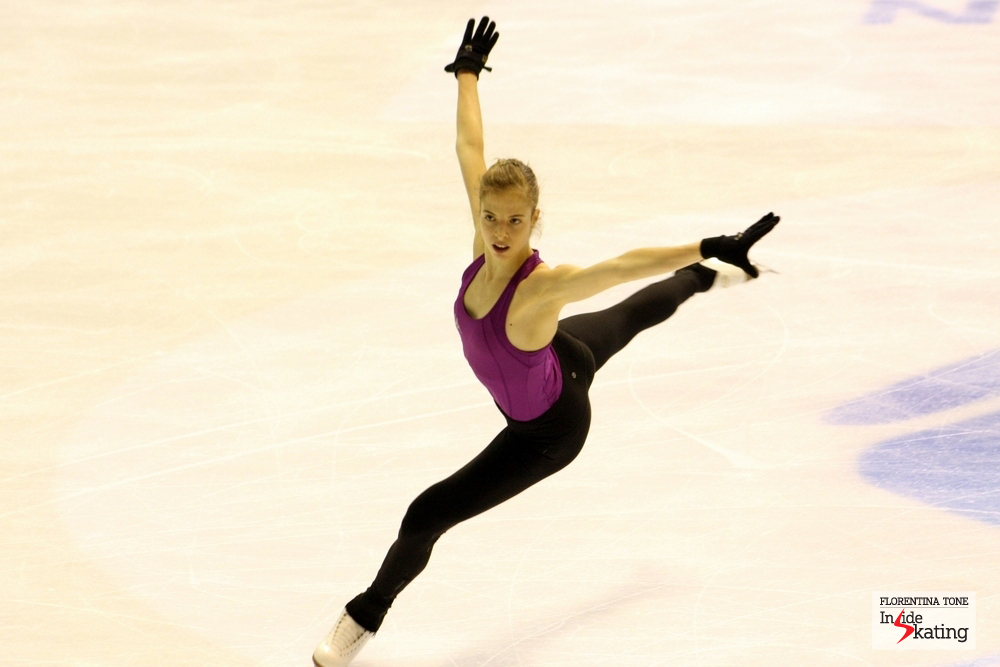 Carolina Kostner in Zagreb, at the 2013 Europeans