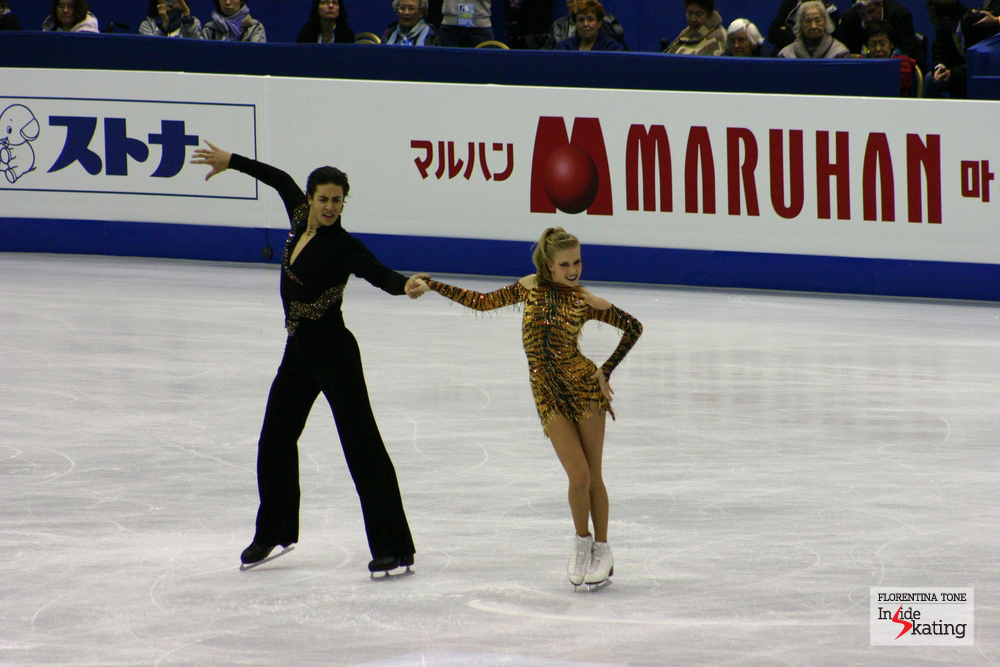 Kaitlyn Weaver and Andrew Poje at 2012 Worlds, when they were very close to winning the bronze medal