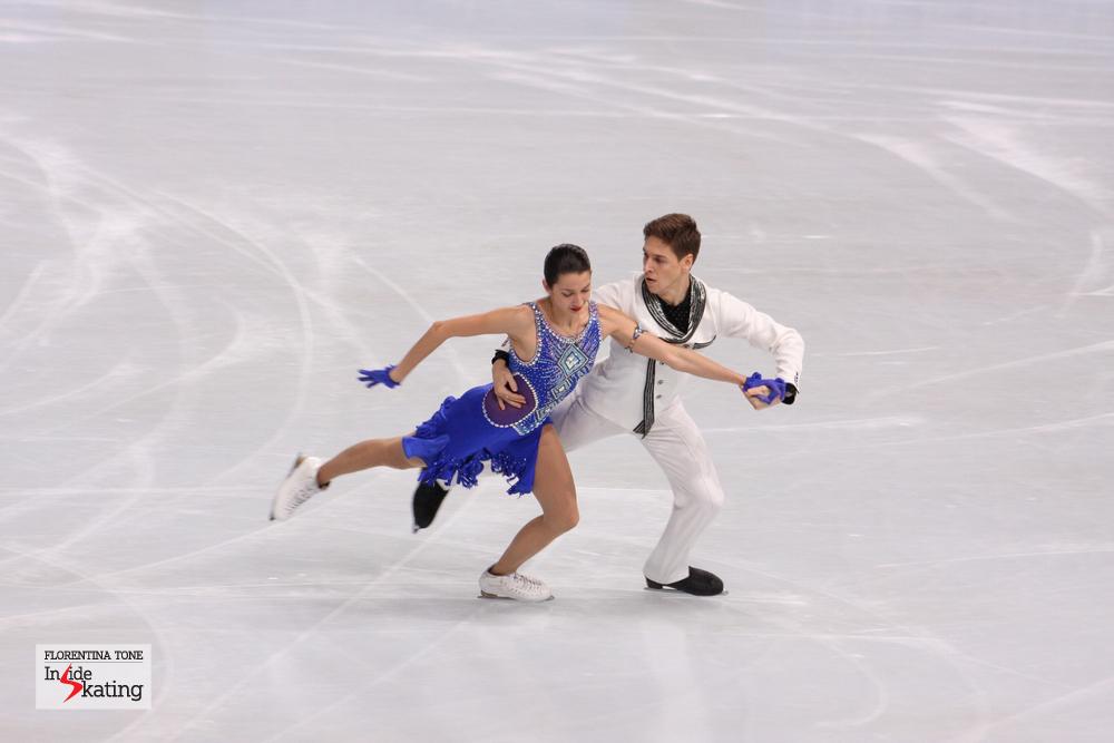 Ksenia Monko and Kiril Khaliavin at the 2013 Trophee Eric Bompard, during their short dance