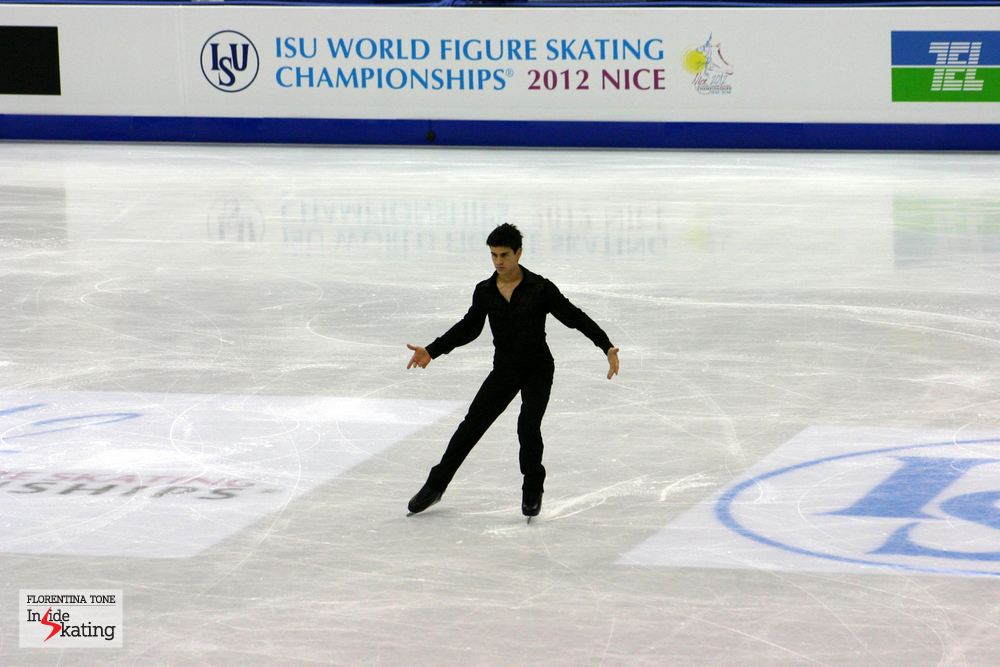 Javier Raya, at the 2012 World Figure Skating Championships in Nice, France