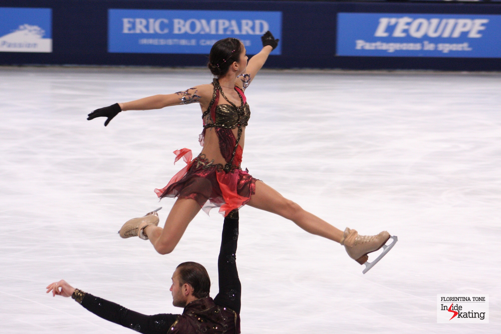 Vera Bazarova and Yuri Larionov were third after the short program; they ended up on the fourth place