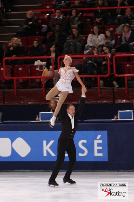 Caydee Denney and John Coughlin, bronze at the 2013 Trophee Eric Bompard