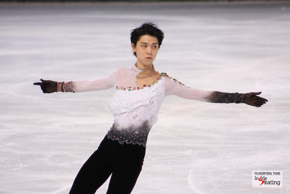 Yuzuru Hanyu during his free program at 2013 Trophee Eric Bompard