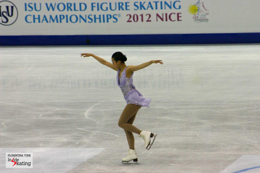 Mao Asada in Nice, at the 2012 World Figure Skating Championships