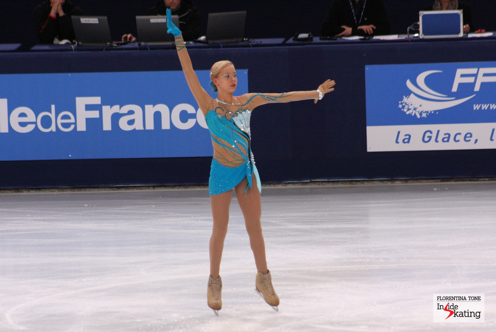 Anna during her free skating (2013 Trophee Eric Bompard)