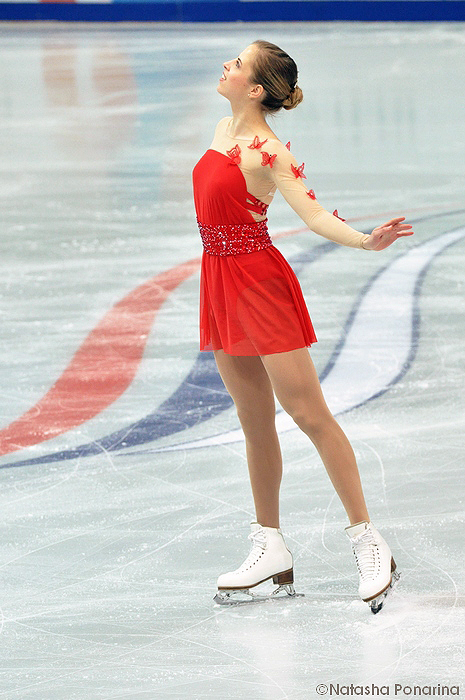 Carolina Kostner at  Rostelecom Cup in Moscow, at the beginning of her wonderful short program. Photo courtesy of Natasha Ponarina (http://friendsonice.gallery.ru/)