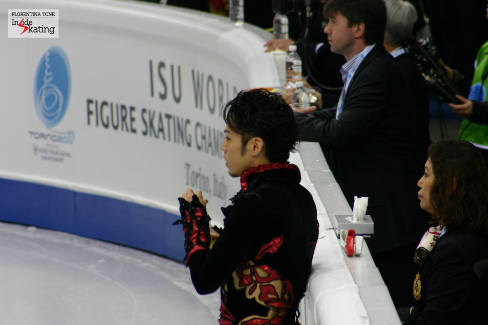 Daisuke Takahashi at the 2010 Worlds in Torino, where he won the gold medal (a month earlier, he had won the Olympic bronze in Vancouver)