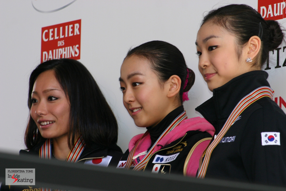 Miki Ando and Yuna Kim will compete in Zagreb, while Mao Asada will be in Fukuoka, at the Grand Prix Final (photo taken at the 2010 Worlds, in Torino)