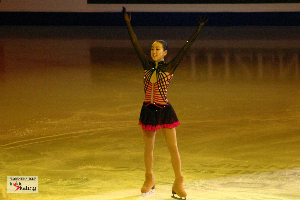 Mao Asada in Torino, at the 2010 Worlds, where she won the gold medal