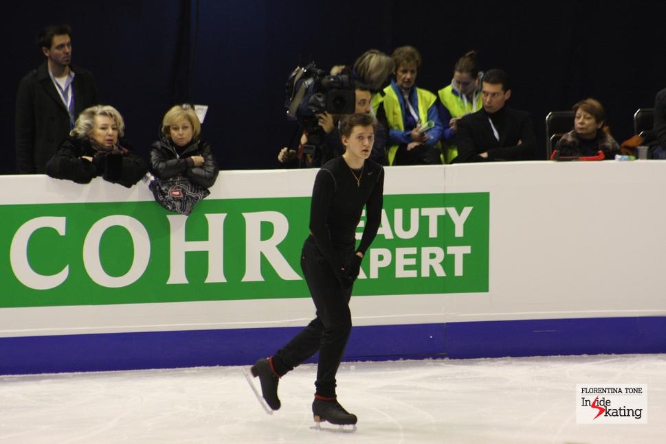 Maxim Kovtun at the 2013 Europeans in Zagreb, supervised by Tatiana Tarasova and Elena Buianova