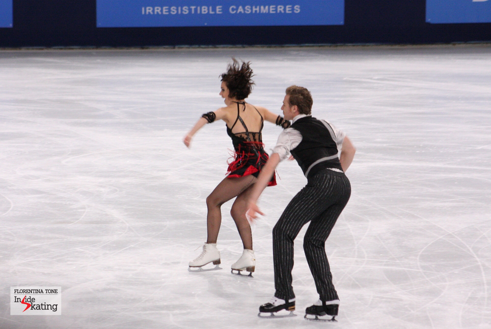Nathalie and Fabian during their short program in Paris, at the 2013 Trophee Eric Bompard