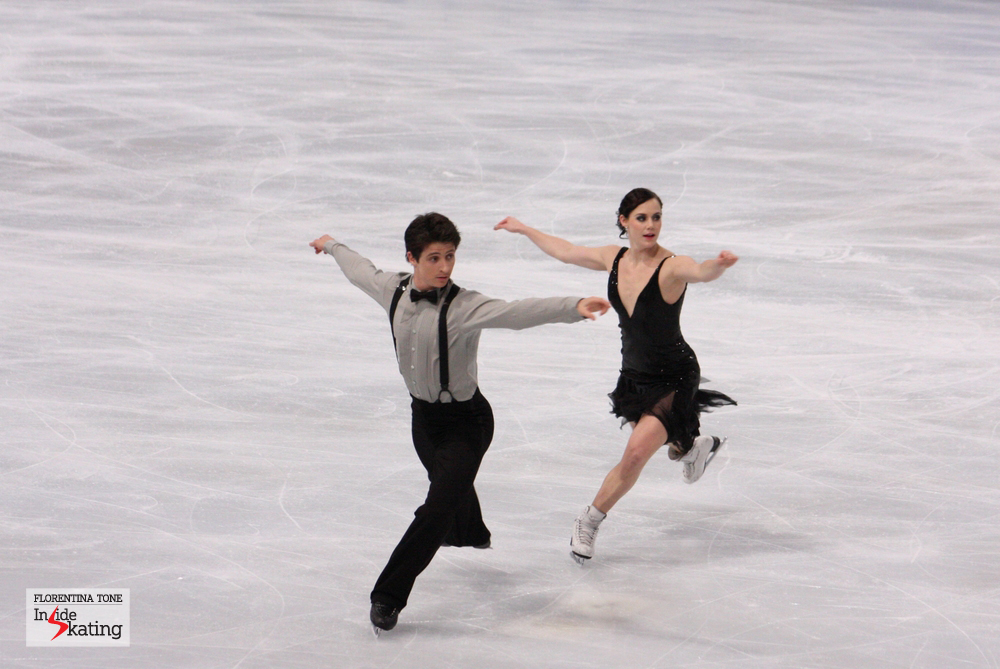Tessa and Scott, at their second Grand Prix event of the season (Trophee Eric Bompard)