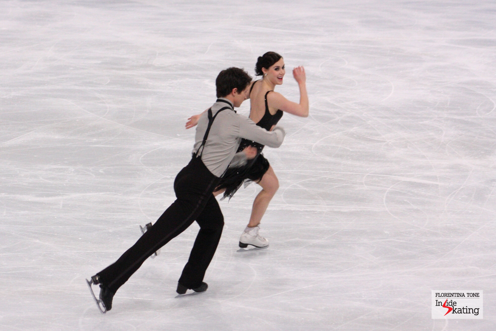 Tessa Virtue and Scott Moir, at the 2013 Trophee Eric Bompard, at the beginning of November