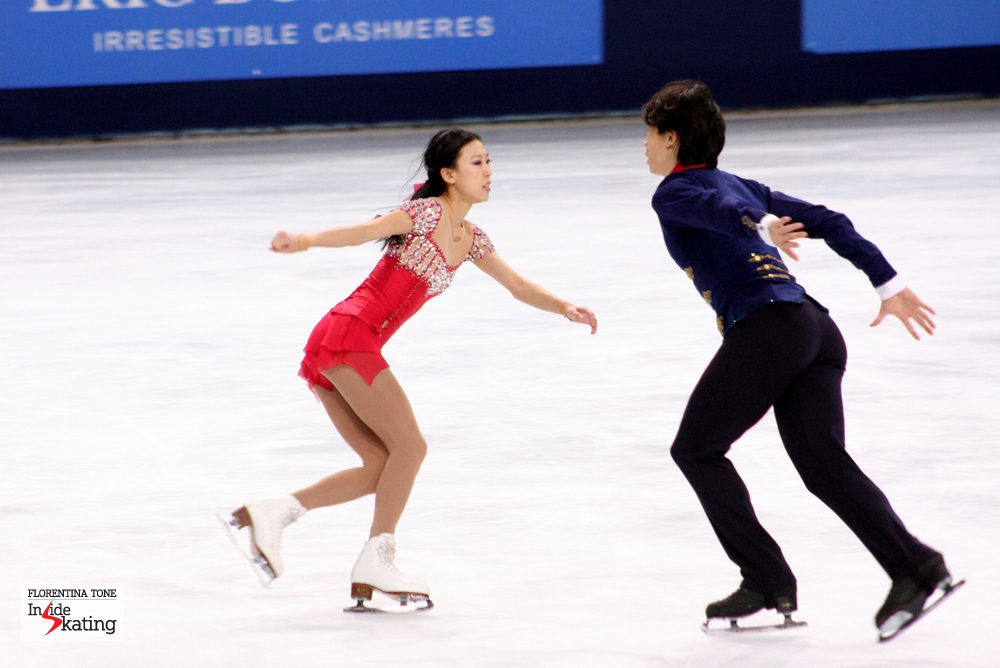 Qing Pang and Jian Tong in Paris, at the 2013 Trophee Eric Bompard