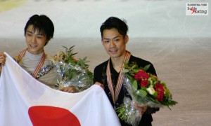 "Waiting for the official announcement of the Japan Skating Federation: ""The three Olympic berths in the men's event go to…"""