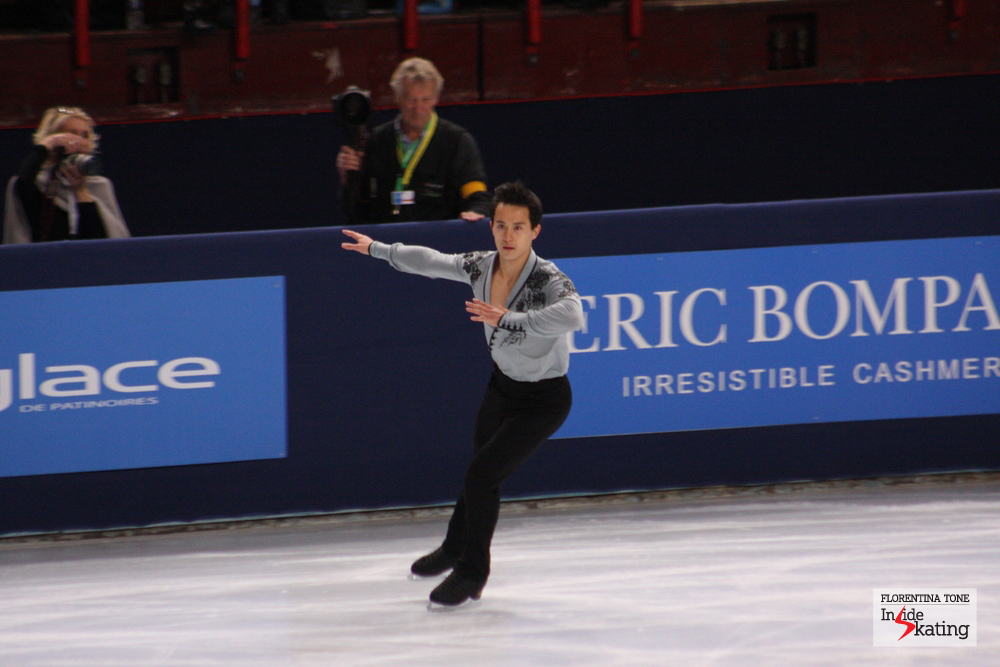 If Patrick skates in Sochi, next year, as he did in Paris, at the 2013 Trophee Eric Bompard (photo), he'll definitely be a strong contender for the Olympic gold