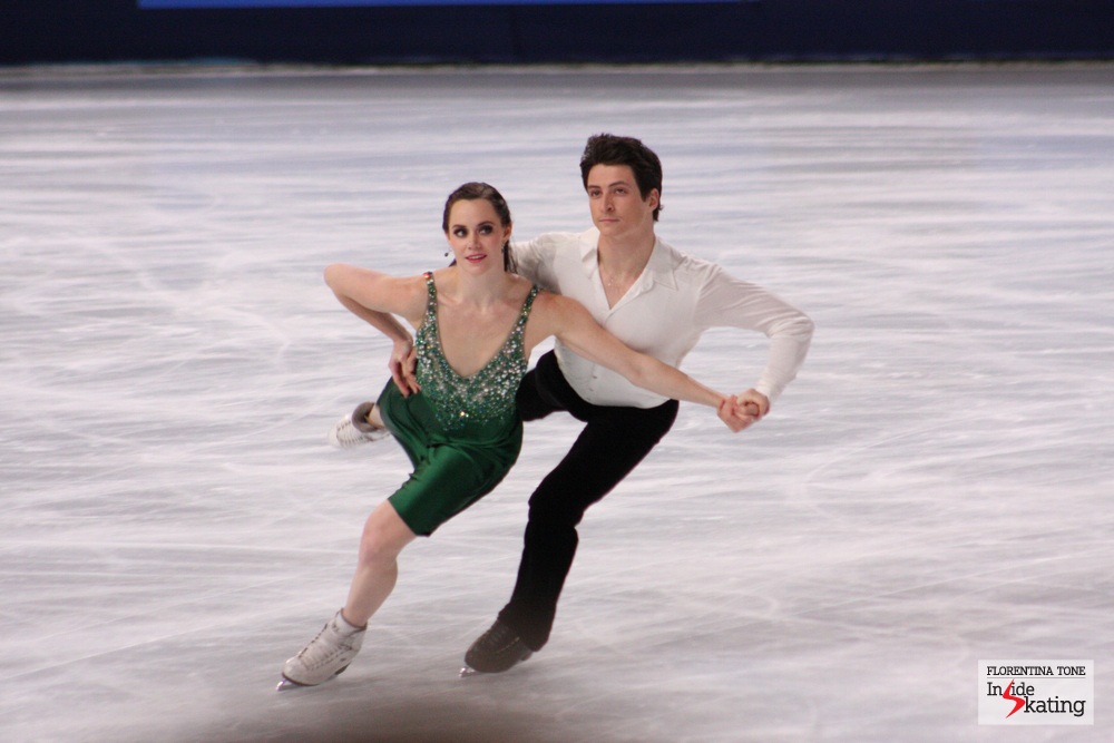 In the ice dancing event in Fukuoka, Tessa Virtue and Scott Moir will try to fill the gap between them and the Americans Davis and White (photo taken at the 2013 Trophee Eric Bompard)