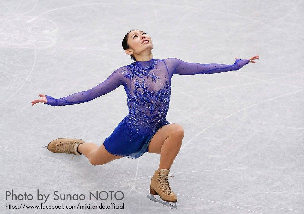 """Today may be my last skating as a competitor. I want to fly today! And I want to skate with my heart! With Love..."", wrote Miki Ando on her official facebook account, as a caption for a series of wonderful photos taken by Mr. Sunao Noto"