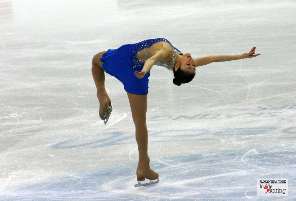 Yuna Kim at the 2010 Worlds in Torino (where she was second, after Mao)