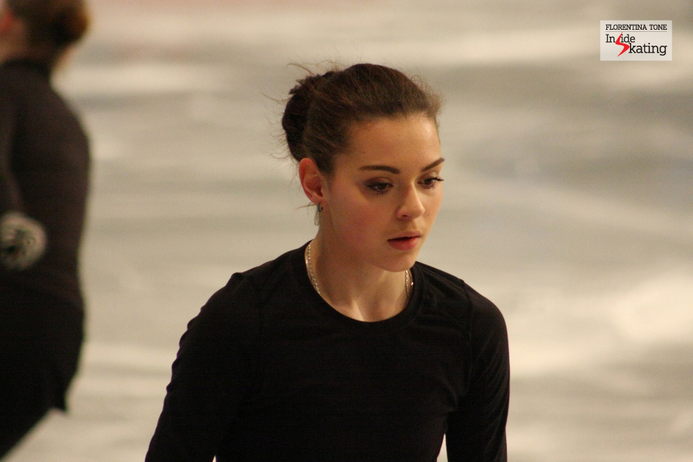 A very serious Adelina Sotnikova