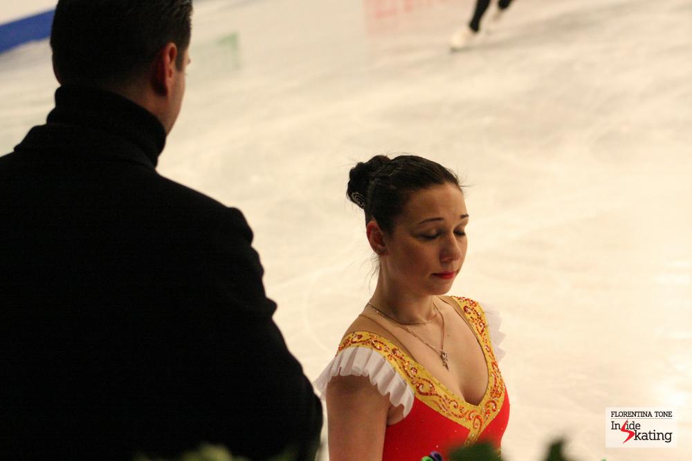 Alena Leonova and coach Nikolai Morozov