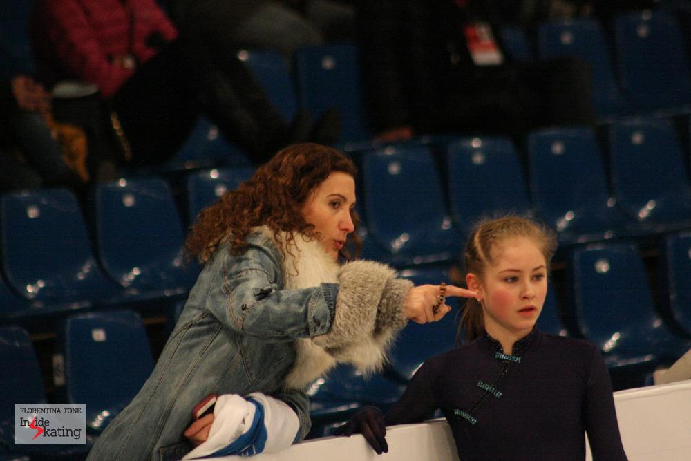 Julia Lipnitskaia and Eteri Tutberidze