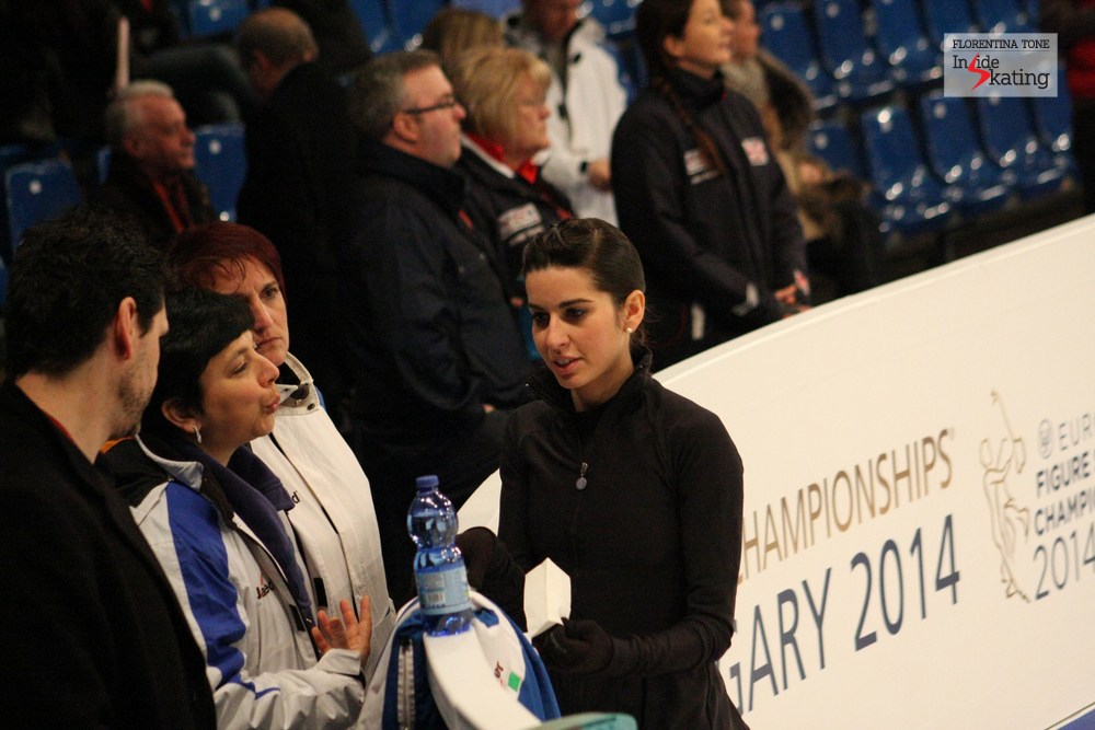 Valentina Marchei and her coaches