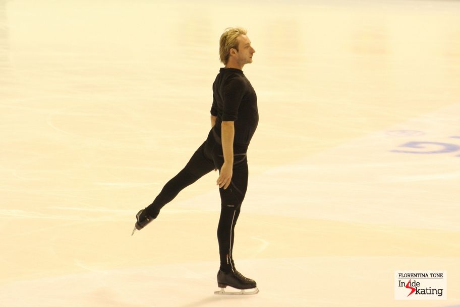 Evgeni Plushenko, practice session in Zagreb, at the 2013 Europeans