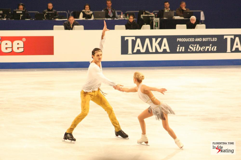 Tatiana Volosozhar and Maxim Trankov during their free program (2014 Europeans in Budapest)