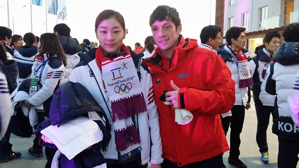 On his way to the closing ceremony of the Olympic Games in Sochi, Zoltan Kelemen met Yuna Kim - a wonderful encounter and a wonderful picture (Photo: personal archive of Zoltan Kelemen)