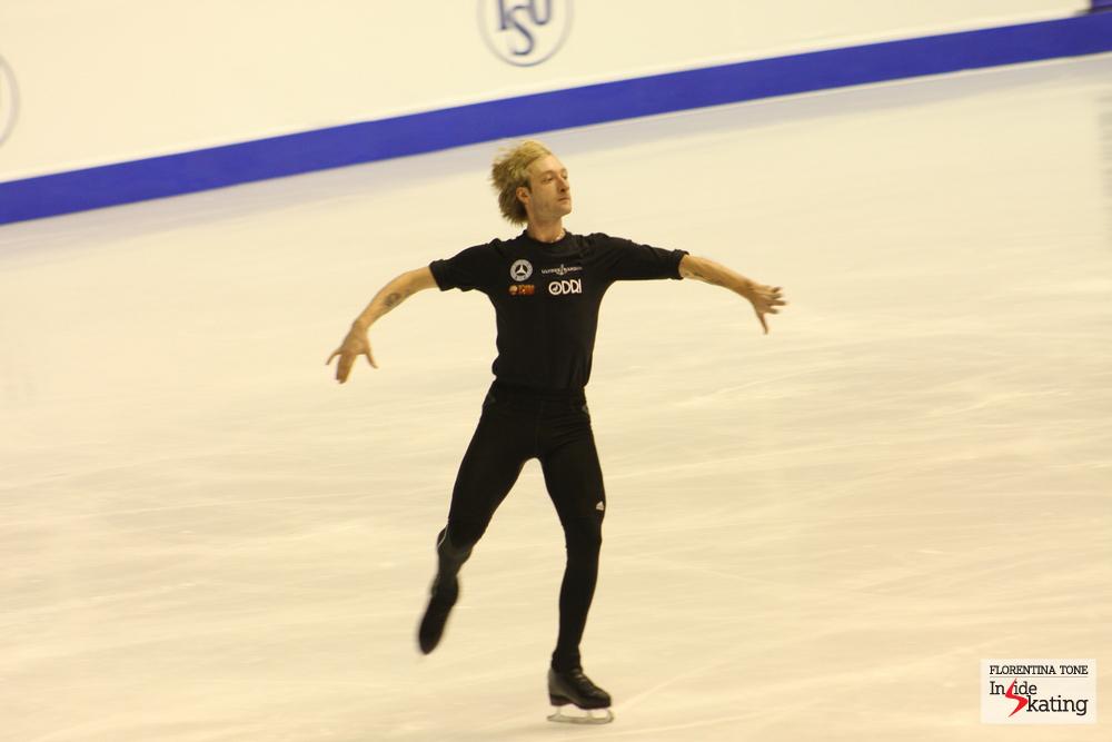 Evgeni Plushenko during practice in Zagreb (2013 Europeans)