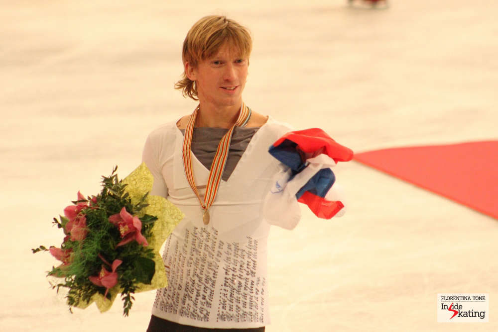"""Who borrowed me the Russian flag? I want to return it..."" (Konstantin Menshov at the 2014 Europeans)"