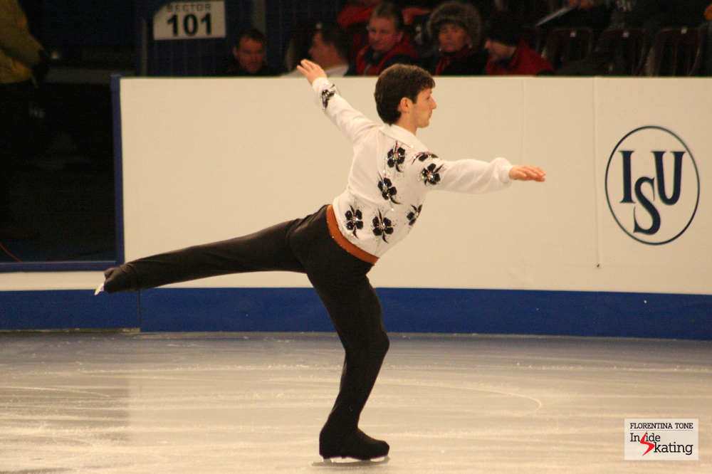 Zoltan in Budapest, practicing his short program