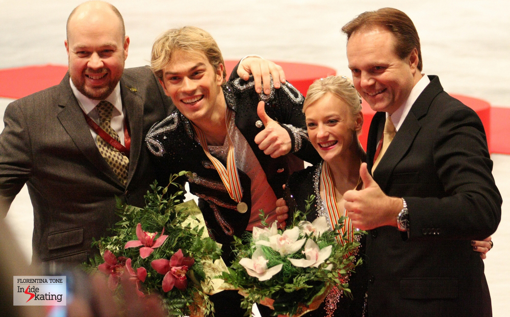The bronze winning team in Budapest: Philip Askew, Nick, Penny and Evgeny Platov