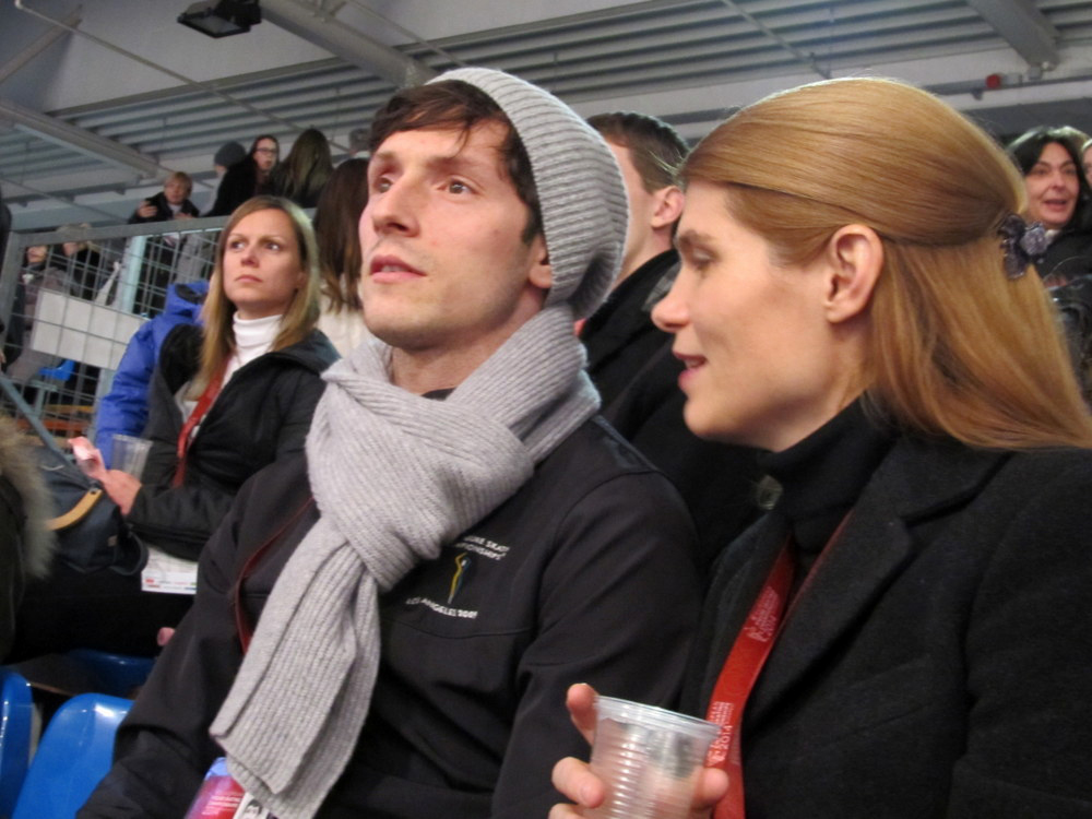 Zoltan Kelemen alongside Sandra Schär Chiper in Budapest, at the 2014 Europeans (Photo courtesy of Andriana Andreeva)