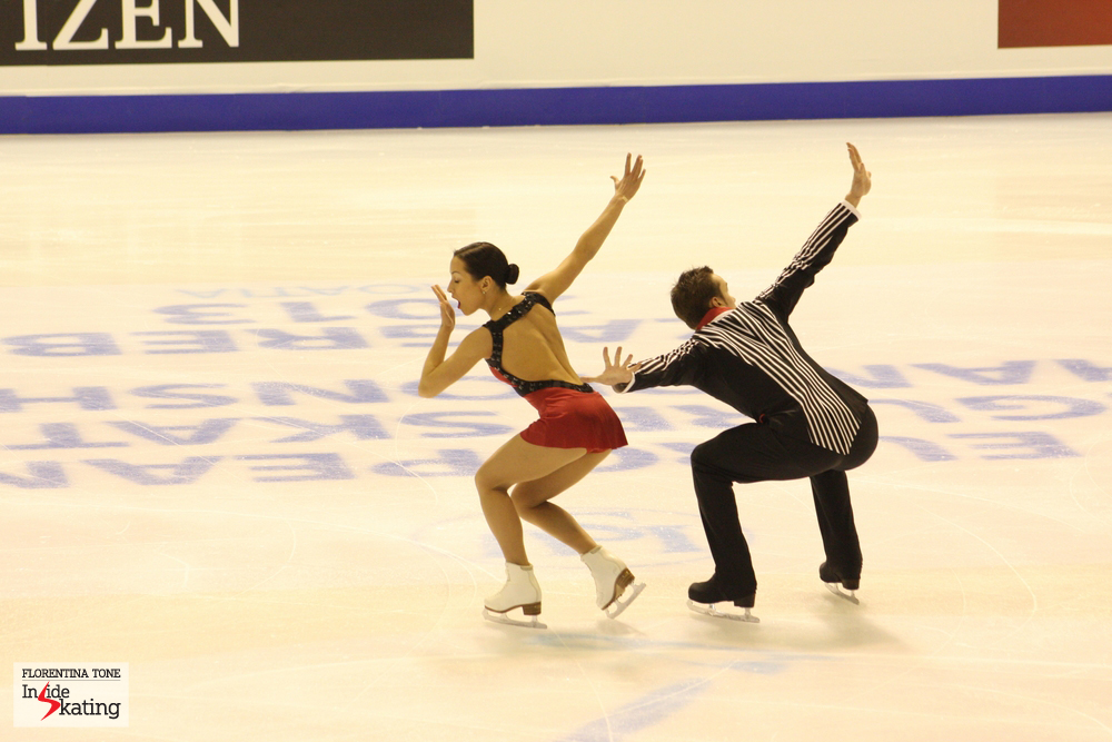 Ksenia Stolbova and Fedor Klimov in Zagreb, a year ago, at the Europeans