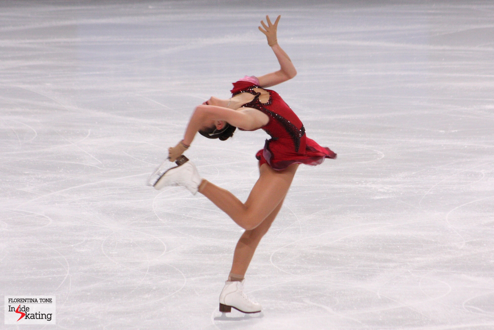 Adelina Sotnikova, skating her short program at the 2013 Trophee Eric Bompard (November)
