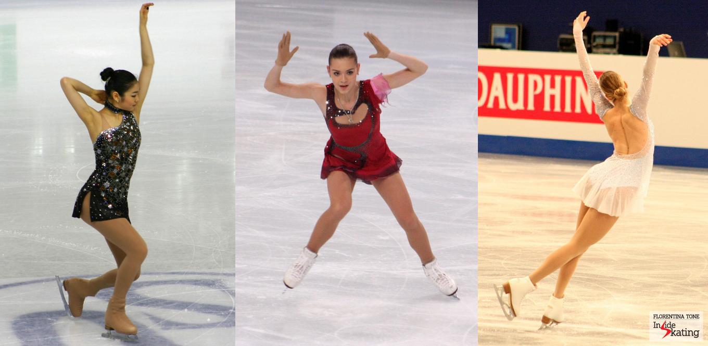 Yuna Kim, Adelina Sotnikova, Carolina Kostner