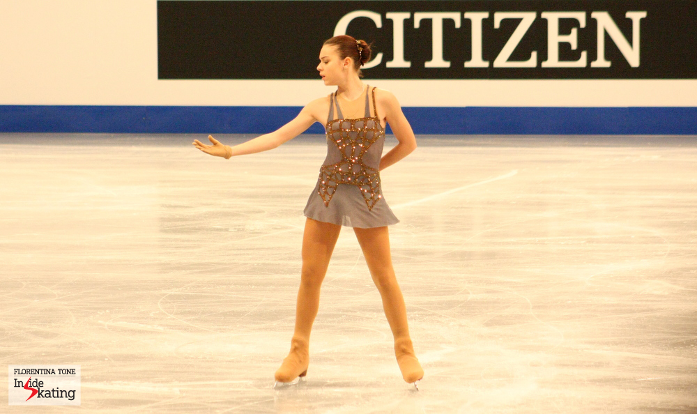 Adelina Sotnikova, a month before the Olympics (2014 Europeans in Budapest)
