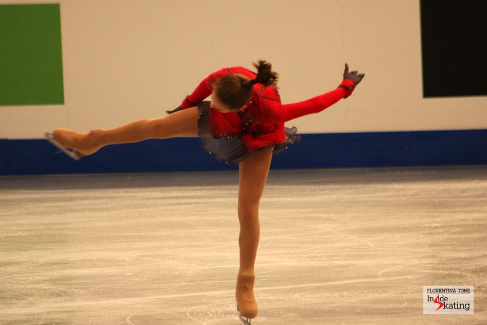Julia Lipnitskaia, the 2014 European champion (Budapest)