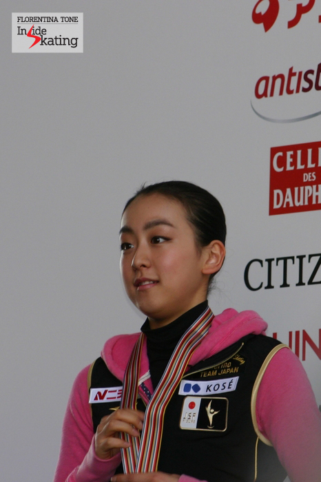 Mao Asada at the 2010 Worlds in Torino, where she won the gold medal